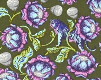 Tula Pink; Eden Lotus in Amethyst; 1/2 yd. cotton woven fabric