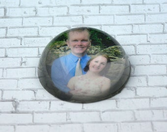 Personalized Glass Paperweight Using Your Image