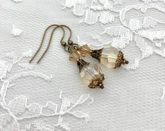Bridesmaid Earrings, Bridesmaid Gift, Bridal Party Jewelry, Swarovski Crystal Earrings