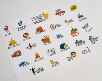 Summer Bucketlist Stickers