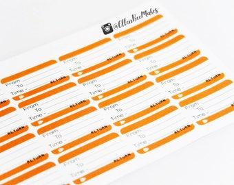 Train Ticket Planner Stickers
