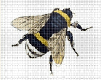 Bumblebee Counted Cross Stitch Pattern / Chart,  Instant Digital Download   (AP015)