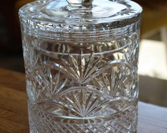 Lead Crystal Glass Cookie Jar