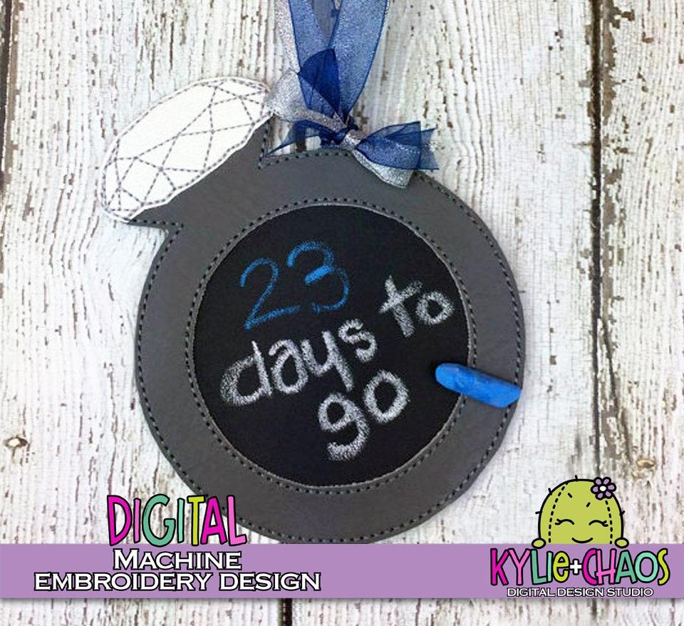 Hochzeits-Countdown-Ring-Kreide schmücken mir Busy-Brett Maschine ...
