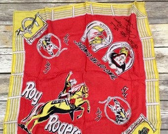 1950s Vintage Roy Rogers and Trigger Bandanna