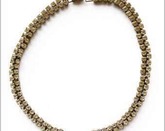 60's Rhinestone Choker Necklace