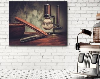 barber shop decor wall art barbershop framed canvas art barber shop decorating ideas - Barber Shop Design Ideas