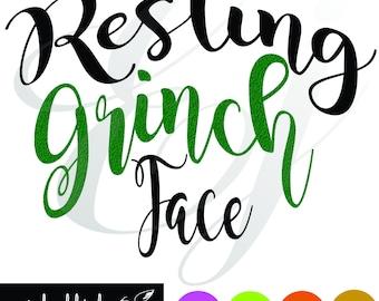 Resting Grinch Face svg dxf eps png arrows Digital Cutting Design- Instant Download-Vector File Graphic Design