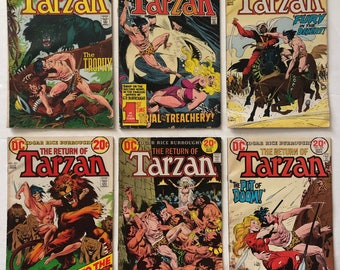 Edgar Rice Burroughs Tarzan #s 218 219 220 221 222 223 Lot of 6 Vintage Bronze Age 1973 DC Comic Books