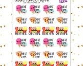 Cheat Day Planner Stickers   Fitness Planner Stickers   Fits Erin Condren, The Happy Planner, InkWELL Press   Diet Planner Stickers   080