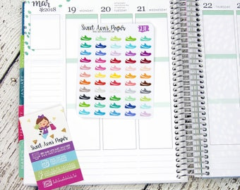 Running Shoe Planner Stickers | Running Planner Stickers | Fitness Planner Stickers | Walking Planner Stickers | 231