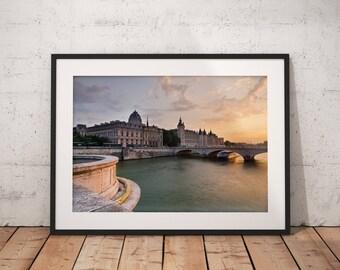 Fine Art Print of the Conciergerie at sunset, Paris, France - Wall Art - Landscape Photography