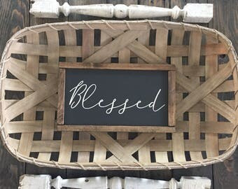 Blessed Sign | Farmhouse Sign