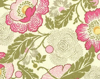 SALE! 4.5 YARDS Amy Butler Midwest Modern Fresh Poppies in Fuschia