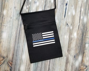 Thin Blue Line Purse - Back the Blue Purse - Blue Lives Matter Purse - Police Purse - Law Enforcement - American Flag