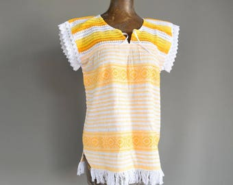 Vintage Mexican Blouse. Mexican Huipil. Mexican Dress