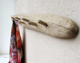 Driftwood towel rack Etsy