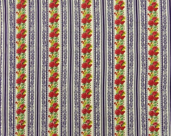 """Home Decor Fabric, Floral Print, Beige Fabric, Apparel Fabric, Quilt Material, 43"""" Inch Cotton Fabric By The Yard ZBC9154B"""