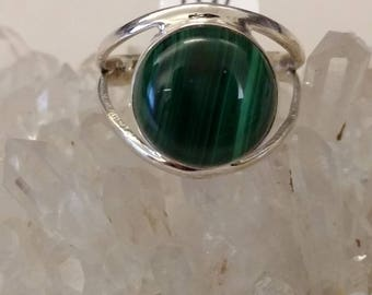 Malachite Ring Size 11 1/2