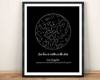 Sky Map Custom, Star Map Custom, Custom Star Map Digital, Custom Night Sky Print, Custom Night Sky Map, Under This Sky Print, New Baby Gift