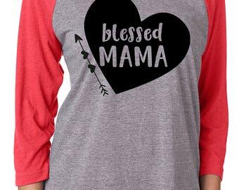 Blessed Mama 3/4 Sleeve Raglan