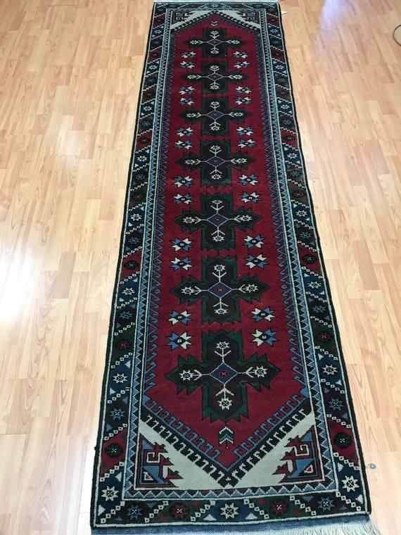 """2'7"""" x 9' Turkish Kazak Oriental Rug - Full Pile - Hand Made - 100% Wool - Vegetable Dye"""