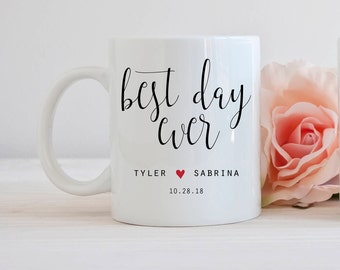 Best Day Ever Mug, Wedding Favor Mug, Gifts for Wedding Guests