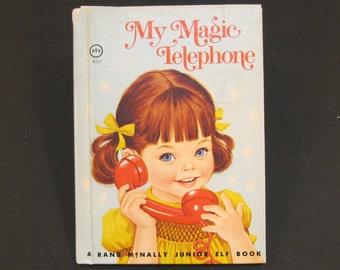 MY MAGIC TELEPHONE  vintage 1975 Rand Mcnally Jr Elf junior Daphne Hogstrom Sharon Kane pink peppermint Very Good!!