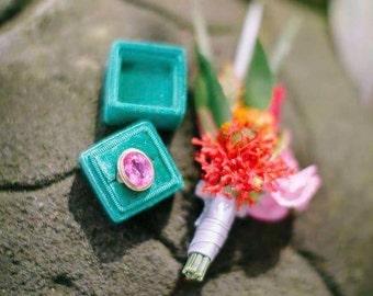 Ring Box - Velvet Ring Box - Vintage Style - Proposal Ring Box - Engagement ring box - Wedding - Personalized Gift - Lush Green