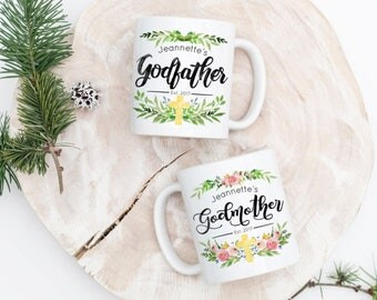 Godparent Gift - Godmother Mug - Fairy Godmother - Gift for Godparents - Gift for Godfather - Godfather Mug - Custom Godparent Gift