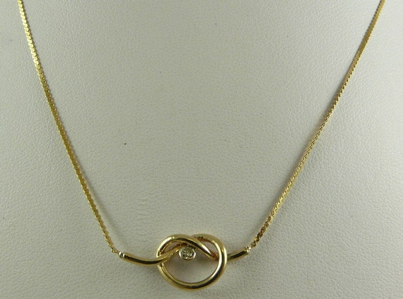 Diamond 0.05ct Necklace 14k Yellow Gold