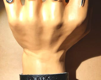 Black Soul -- Leather Cuff Bracelet
