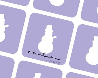 Snowman Nail Vinyls - Nail Stencil for Nail Art
