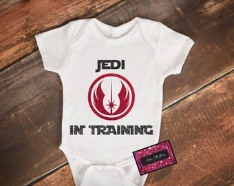 Glitter Baby Onesie - Jedi In Training