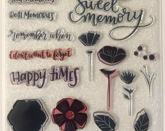 CC1064 / Happy Times / Stamp Set / Close To My Heart / CTMH / Acrylic Stamp Set / Clear Stamp Set / Sweet Memory / Memories