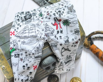 Baby Pirate Outfit, Coming Home Outfit, Newborn Leggings, Pirate Leggings, Jolly Roger Outfit, Pirate Hat, Baby Gift, Pirate Baby Shower
