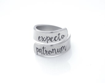 Expecto Patronum - Harry Potter inspired - wrap ring