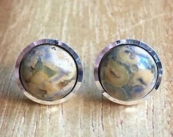 Rhyolite Earrings Rhyolite Jewellery 925 Silver Studs 925 Jewellery Womens Earrings Womens Jewellery Gift For Her Handmade Studs STSE39