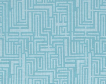 Modern Eclectic - Meander Blue - by Khristian Howell - Blend Fabrics - 100% Premium Cotton Fabric