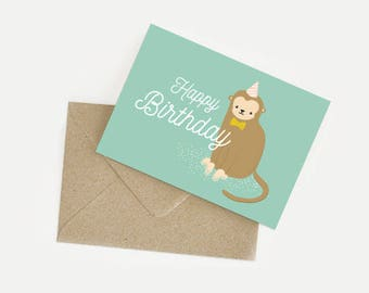 Monkey birthday card / Happy birthday
