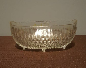 Vintage Footed Cut Glass Bowl/Candy Dish