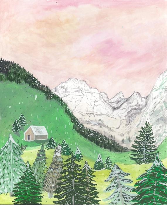 Austrian Tyrol Mountain Print
