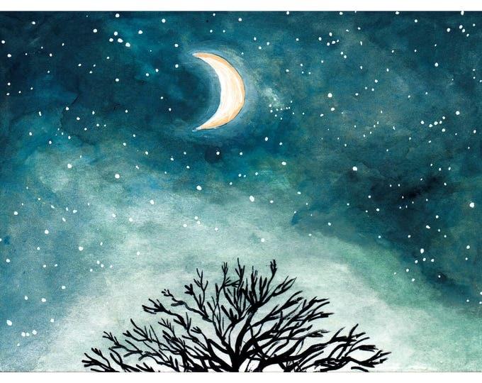 Half Moon Limited Edition Print A5