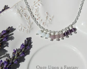 Necklace in shades of purple - Once Upon a Fantasy