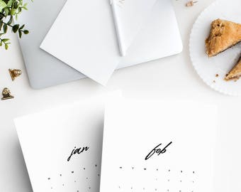 A4 2018 Printable wall calendar, Office printable, Office accessories, Chic calendar, Lady boss printable calendar, Stylish office supplies
