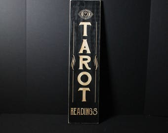 Tarot Readings Wooden Sign | Vintage Style Wicca Witchcraft Fortune Teller