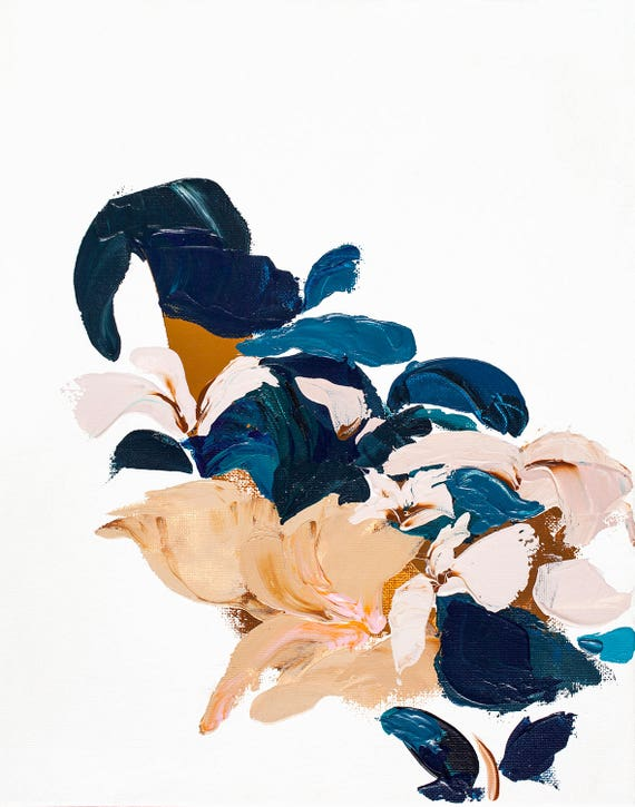 Modern Abstract Botanical Giclee Print