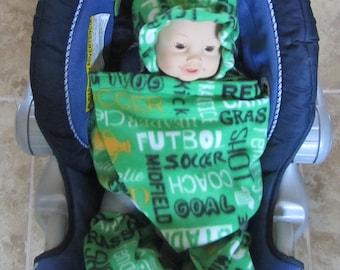 Green Soccer (Futbol) Snuggle Wrap