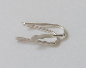 925 Sterling Silver Tiny Open Hoop Earrings, Minimalist Earrings, Small Everyday Earrings, Tiny Threader Fun Earrings.