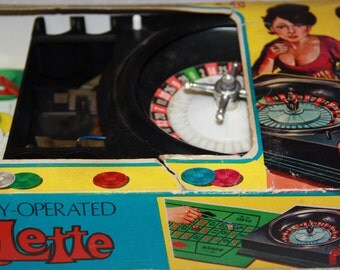 Vintage Toy Roulette Wheel Casino Game Fortuna Made In Hong Kong